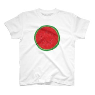 スイカ(赤) T-shirts