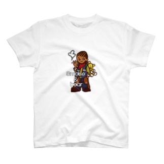 オリジナルデザインTシャツ SMOKIN'のクマを背負ったボヘミアンA T-shirts