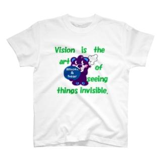 くるりんモクモックマA  紫 T-shirts
