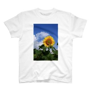 夏のヒマワリ T-shirts