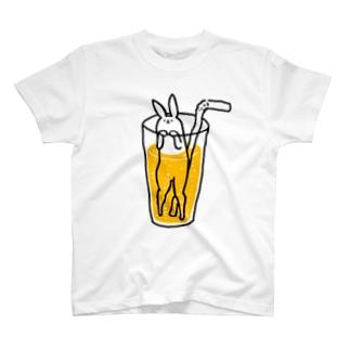 うさぎサイダー オレンジ T-Shirt