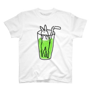 うさぎサイダー メロンソーダ T-shirts