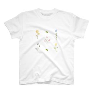 水彩花 T-shirts
