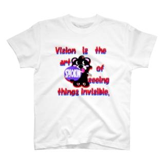 くるりんモクモックマD黒 T-shirts