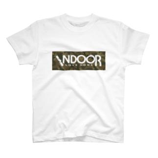 インドア派!(迷彩) T-shirts