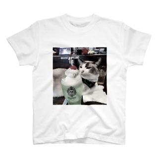 クリームソーダと猫 T-Shirt