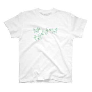 喜怒哀楽いぬ T-shirts