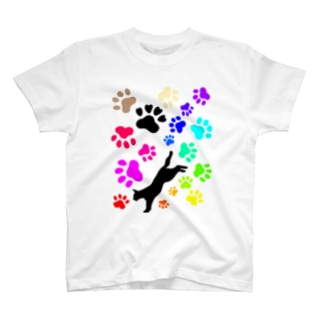 NO.46「猫と足跡」 T-Shirt