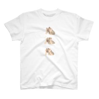三段展開 T-shirts