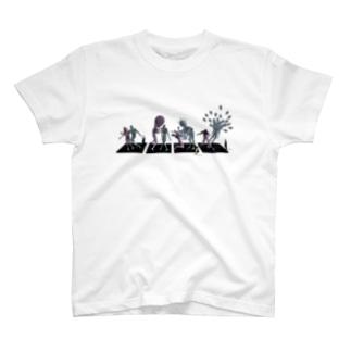 4コマ彫刻 T-shirts