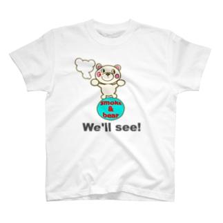 玉のりモクモックマ 白 T-shirts