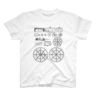 省スペースで寿司を回転させるマシン T-shirts