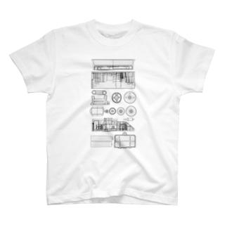 プリンをプルプルさせるマシン T-shirts
