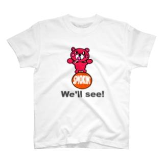 玉のりモクモックマ  飴ちゃんフェイス ピンク T-shirts