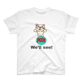玉のりモクモックマ  飴ちゃんフェイス 白 T-shirts