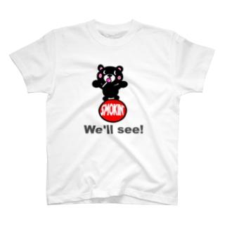 玉のりモクモックマ  飴ちゃんフェイス 黒 T-shirts