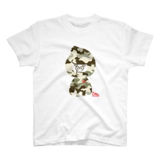 迷彩ゴリラ T-shirts