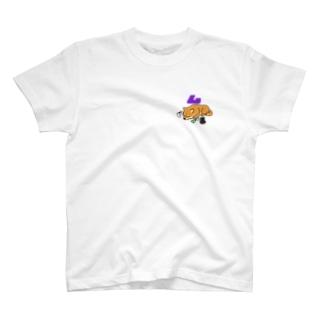 休憩中の柴犬系実況者(ミニ柄バージョン) Tシャツ T-shirts