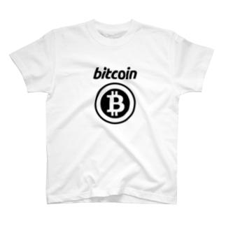ビットコインTシャツ(ロゴ・黒) T-shirts