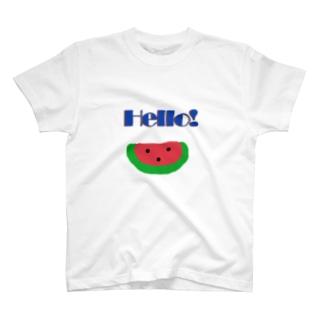 スイカがhello! T-shirts