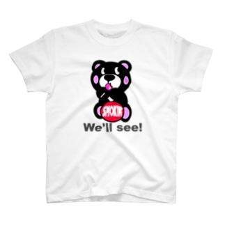 飴ちゃんモクモックマ 黒 T-shirts