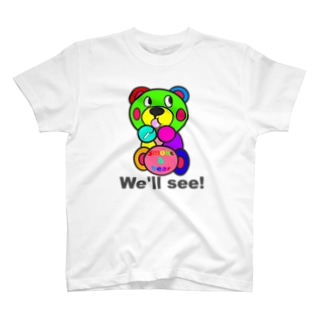 飴ちゃんモクモックマ カラフル T-shirts