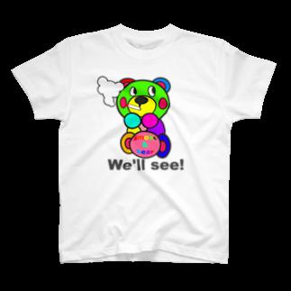 オリジナルデザインTシャツ SMOKIN'の一服モクモックマ  カラフル  T-shirts
