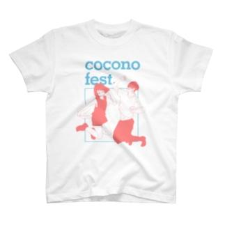 masuda mikuコラボTシャツ(ブルー×レッド) T-shirts