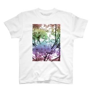 Colorful Photo(SAKURA) T-shirts