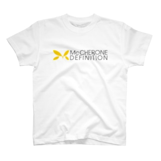 McCHERONE DEFINITIONロゴ(横)[淡色] T-shirts