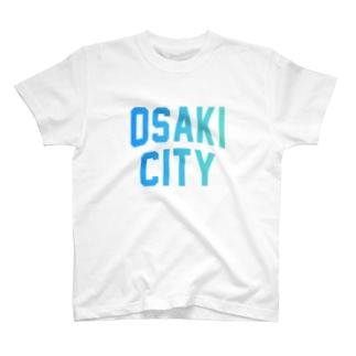大崎市 OSAKI CITY ロゴブルー T-Shirt