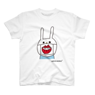 ウサギのウーはマスクをしています T-shirts