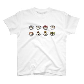 PixelArt スシスッキー8 T-shirts