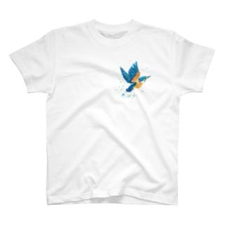 カワセミ飛沫 T-shirts