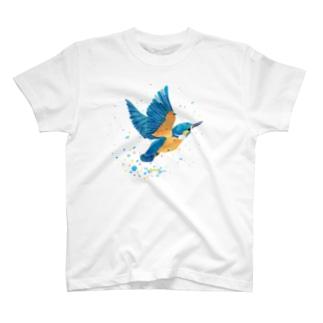 カワセミ飛沫 T-Shirt