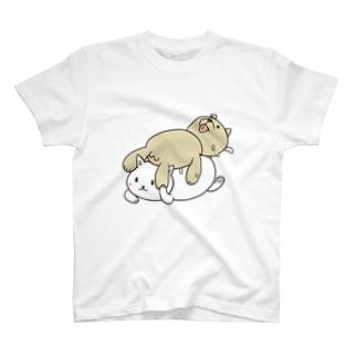 レスキューしちゃう系ネコ T-shirts