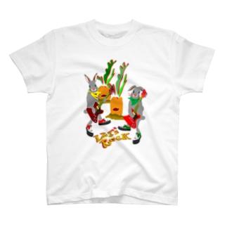 ウサギター 人参01 T-shirts