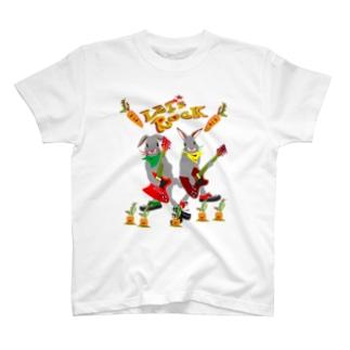 ウサギター 人参02 T-shirts
