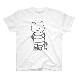 ボンレスニャン(黒線) Tシャツ