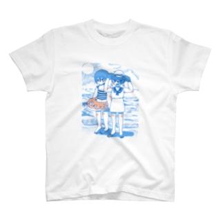 夏休み、海にて。 T-shirts