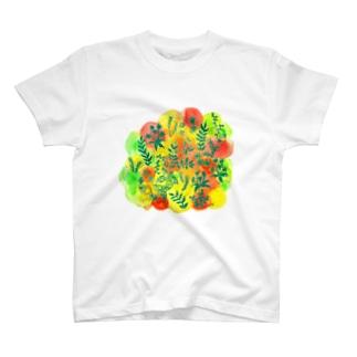 色彩草木花 T-Shirt