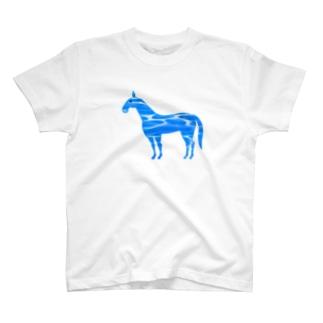 新種 水面毛 T-shirts