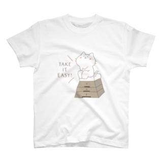 とび箱の上でひとやすみ T-shirts