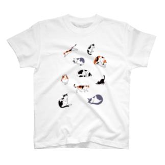 10匹ねこ T-shirts