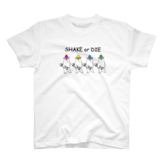 SHAKE or DIE  Bear・hawk Tシャツ
