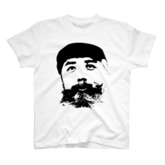 ディテールヤングT Black T-shirts