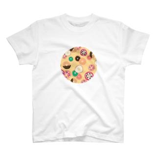 揚げたてドーナツ(まる) T-shirts