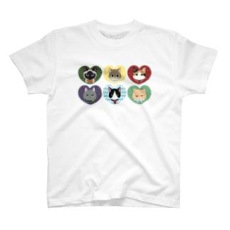 ani★mani-ねこたち- T-shirts