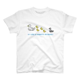 ドットあひるの親子 T-shirts