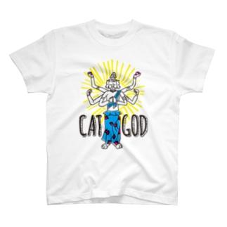 キャットゴッド T-shirts